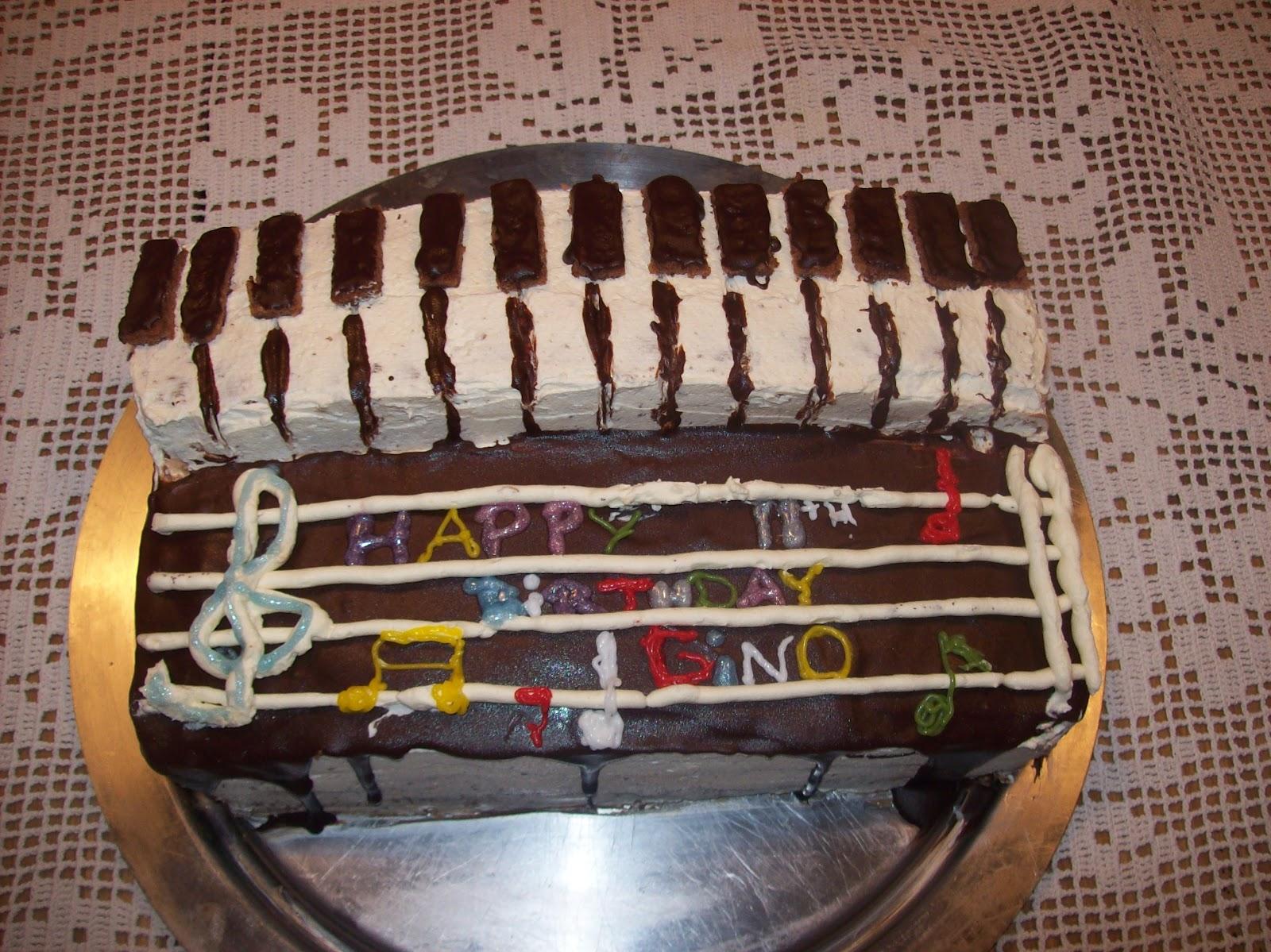 taart piano Mesecevi Slatkisi: Piano taart taart piano