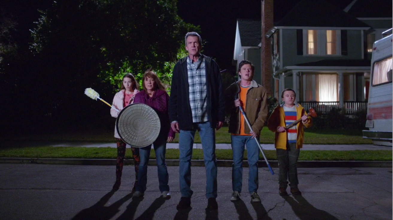 Patricia Heaton, Neil Flynn, Eden Sher, Charlie McDermott, and Atticus Shaffer en The Middle