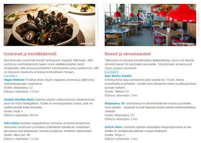 Tallinna vinkit, Tallinna linkit, ostosmatka Tallinnaan