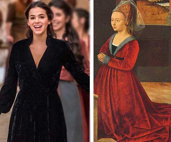 Catarina e roupa época medieval