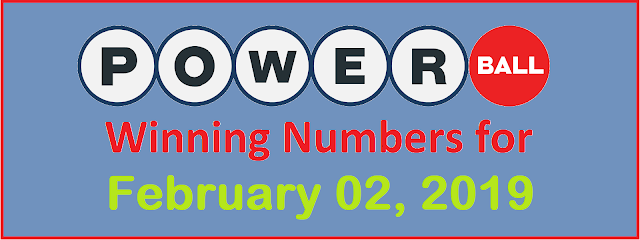 PowerBall Winning Numbers for Saturday, 02 February 2019