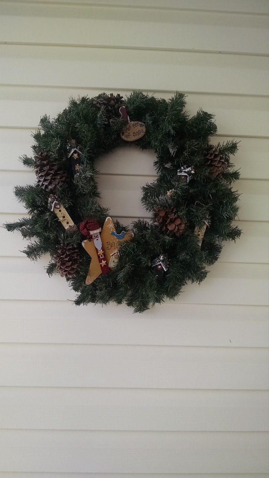 Must Run In The Family How To Hang A Wreath On Vinyl Siding