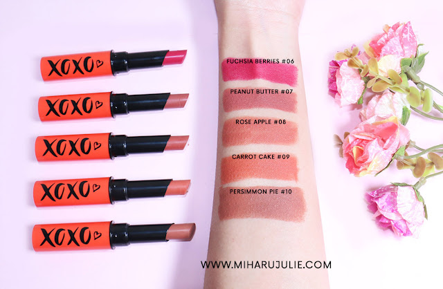 Face2Face Cosmetics xoxo lipstick swatches