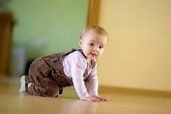 gambar bayi lucu belajar merangkak