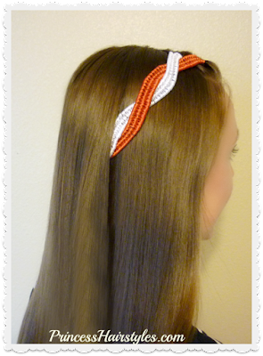 4th of July hairstyle tutorial. #4thofjuly