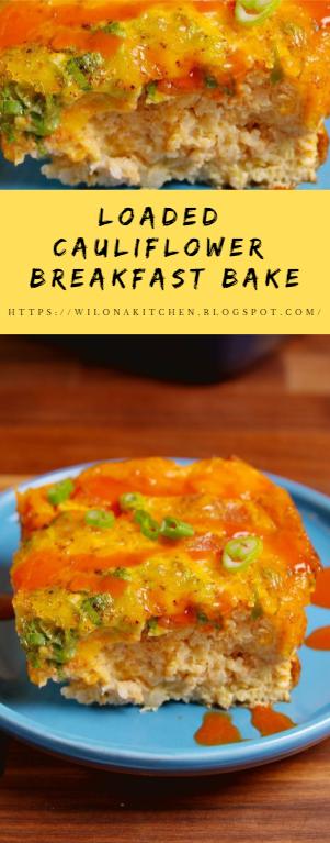 Loaded Cauliflower Breakfast Bake