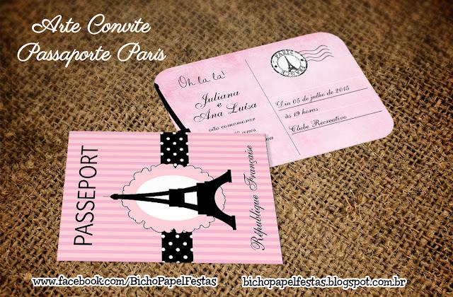 Arte Convite Passaporte Paris