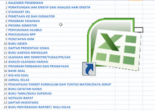 New 24 Berkas Administrasi Guru dalam 1 File Excel