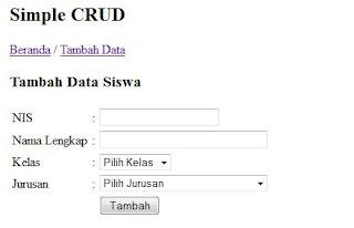 Step 4 Memasukkan Data (Create/Insert)