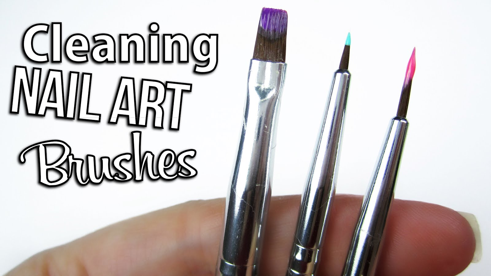 Diy How To Clean Nail Art Brushes