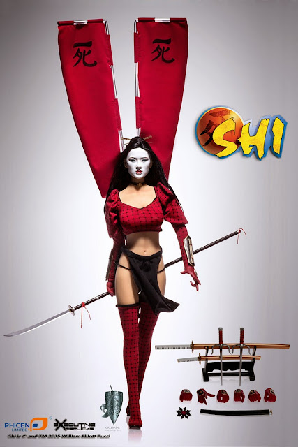"Phicen Limited - 1/6 Scale - 12"" Shi Comic Book figure"