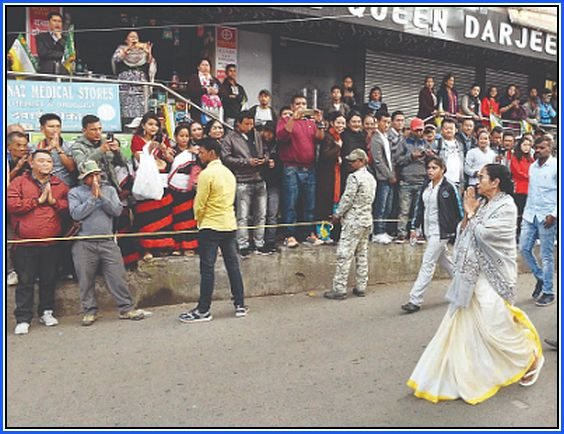 Chief minister Mamata Banerjee in Darjeeling hills for LS poll 2019 campaign