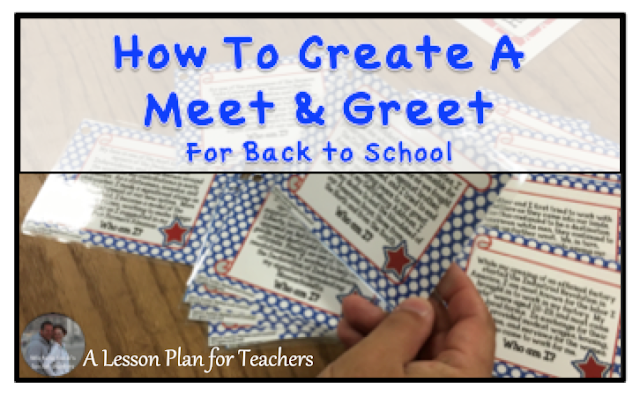 How to create a Meet and Greet for Back to School