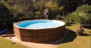 Como hacer una piscina hecha con palets de madera