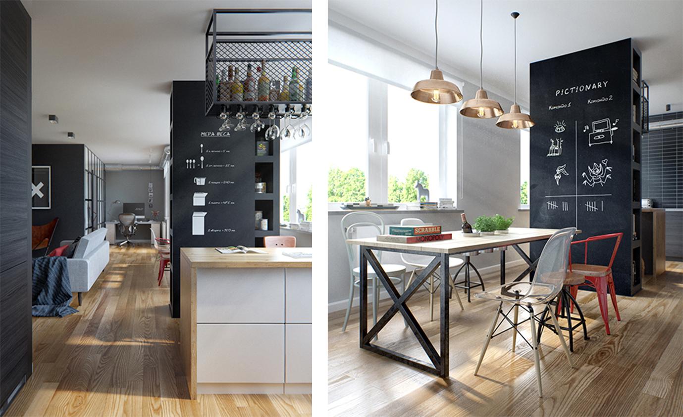 Decoraci n f cil un moderno apartamento con una genial for Decoracion apartamentos modernos