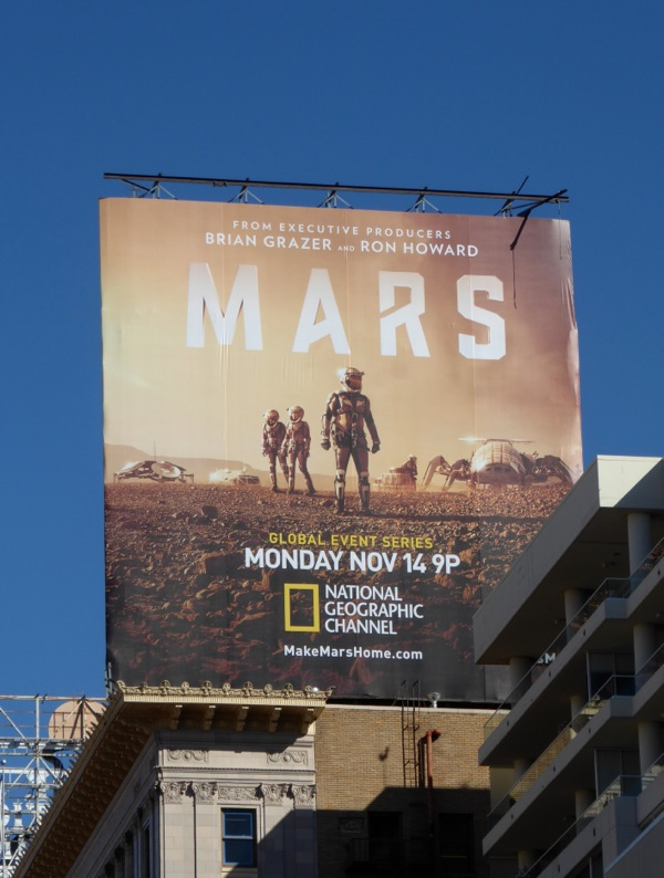 Mars series premiere billboard