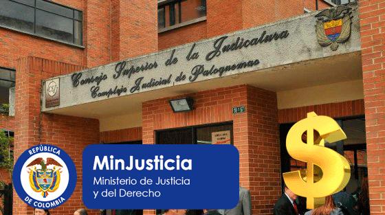 Minjusticia registró en su contabilidad de 2015 recursos por $4,4 billones de la Rama Judicial