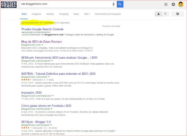 Buscar resultados indexados por google