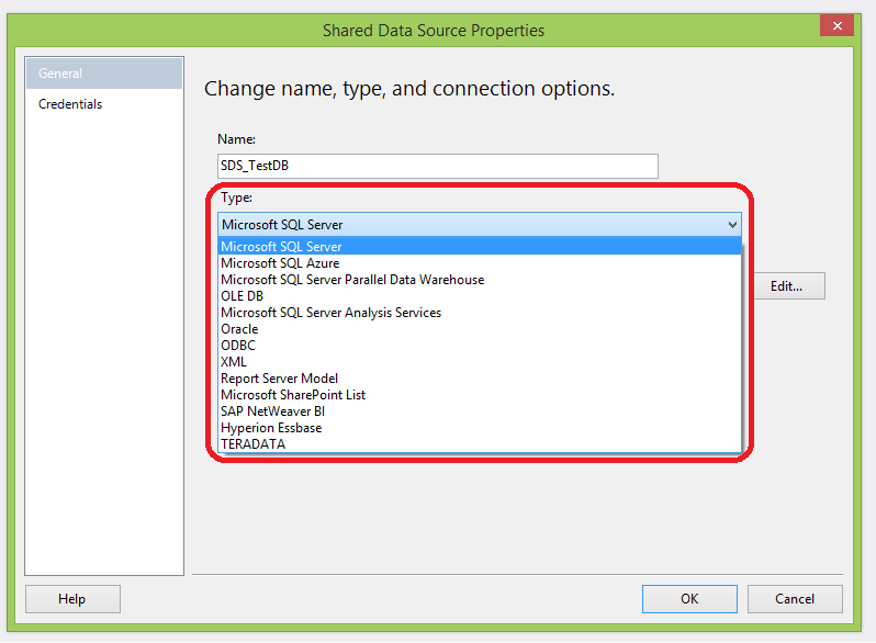 Ssrs Data Source Connection String