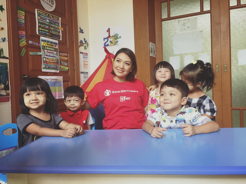 Myanmar Save The Children Ambassador Thet Mon Myint Met With Children For Video Campaign