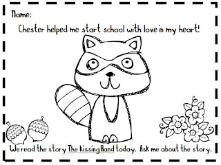 the kissing hand coloring pages - photo#2