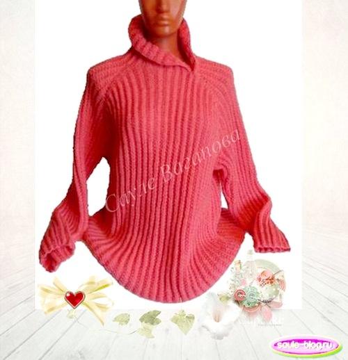Роскошный вязаный пуловер