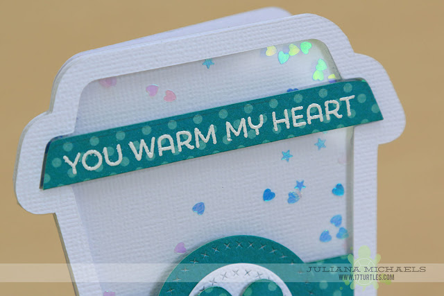 You Warm My Heart Coffee Cup Shaker Box Card by Juliana Michaels featuring the Coffee Cup Shaker Box Free Digital Cut File, MFT Stamps LLD Perk Up Stamp Set and MFT Stamps Die-namics Cross Stitch Circle Stax