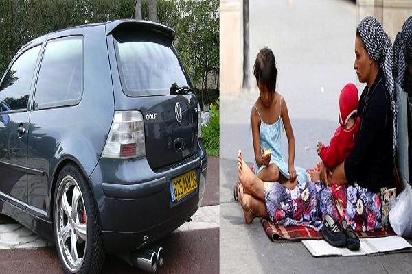 """القبض على سيدة تركن سيارة """"سيري 4""""..وتتسول بطفلة في الخامسة من العمر بوهران"""