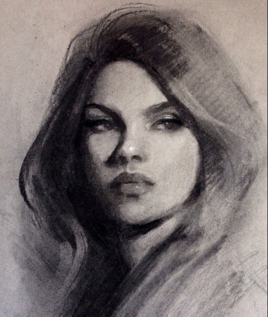 02-Gabrielle-Brickey-Strength-and-Purpose-through Charcoal-Portraits-www-designstack-co