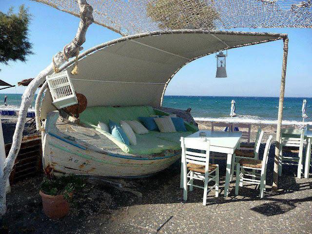 Recycler pour décorer canapé bateau