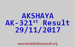 AKSHAYA Lottery AK 321 Results 29-11-2017