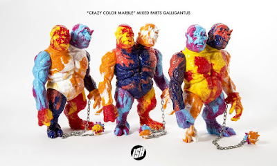 Designer Con 2017 Exclusive Crazy Color Marbled Mixed Parts Galligantus Vinyl Figure by Justin Ishmael