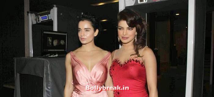 Kangana Ranaut, Priyanka Chopra, Kangana Ranaut, Priyanka Chopra sizzle at Hello Awards 2013