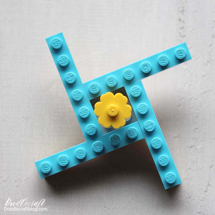 Doodlecraft Easy Lego Fidget Spinner Toy Instructions