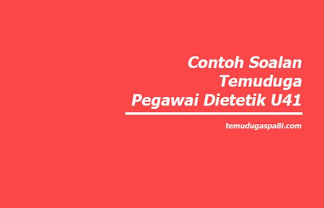 Contoh Soalan Temuduga Pegawai Dietetik U41