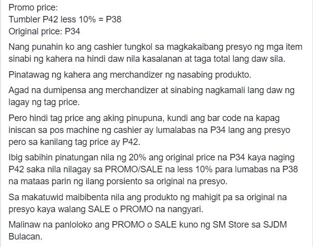 Modus sa mga PROMO at SALE 'KUNO' sa loob ng SM Department store