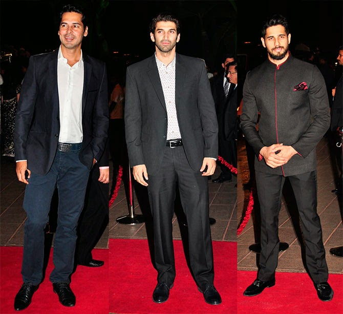 Dino Morea, Aditya Roy Kapur, Siddharth Malhotra, Pics from Arpita-Ayush's Wedding reception
