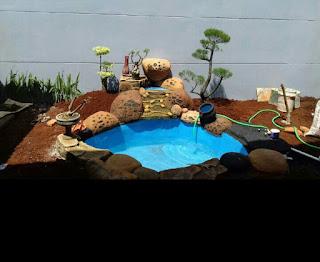 Jasa pembuatan kolam hias relif tebing air terjun harga paling murah