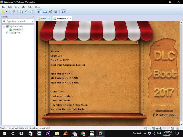 Cách Khởi động máy ảo VMWare Workstation từ USB Boot 3