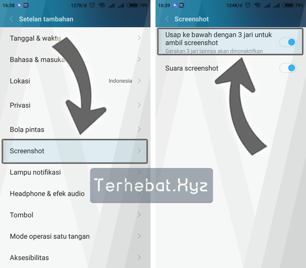 cara screenshot android tanpa tombol fisik