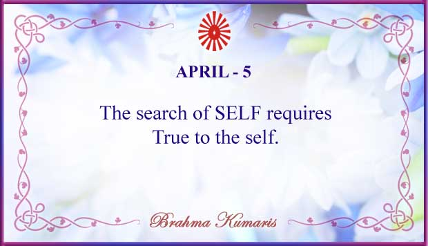 Thought For The Day April 5
