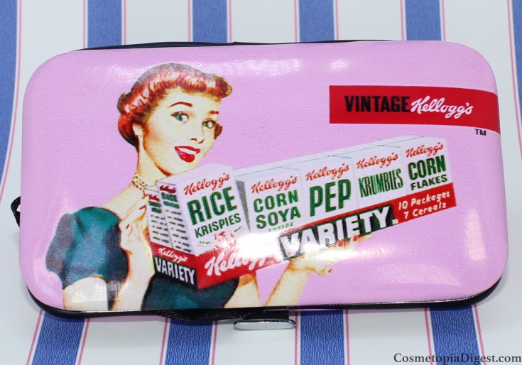 The Mad Beauty Kelloggs range displays a series of vintage Kelloggs advertisements.
