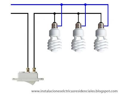 Circuito de focos en paralelo - Instalaciones eléctricas residenciales