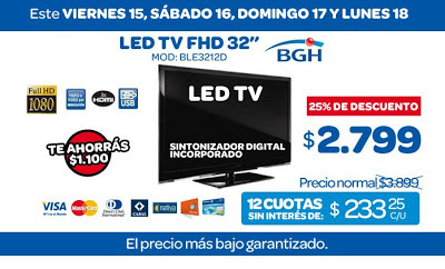 tecno promos argentina oferta led tv bgh. Black Bedroom Furniture Sets. Home Design Ideas