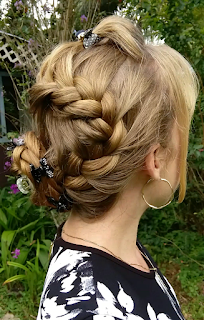 Zig zag french braid with a poof trendy hairstyle haircuts then i braided my hair in a zig zag french braid that ended in a side braided bun i love this hairstyle i hope you do too thank you for visiting my blog ccuart Images