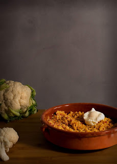 Migas de coliflor receta Thermomix