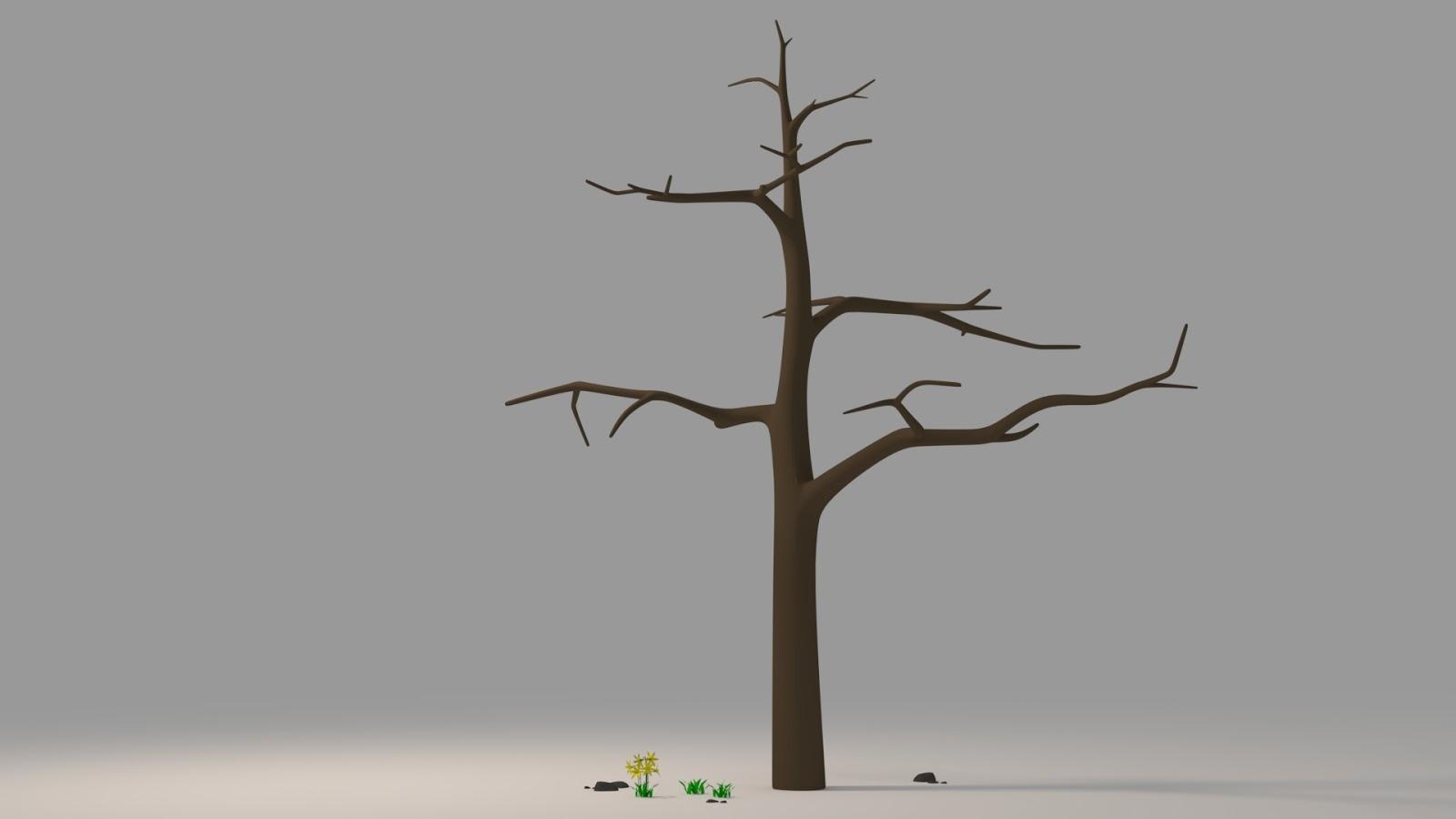 Free 3D Barren Tree .blend file