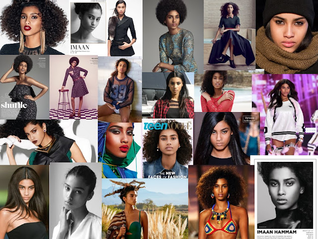 Collage fotos de la modelo Imaan Hammam