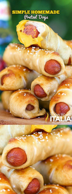 simple homemade pretzel dogs