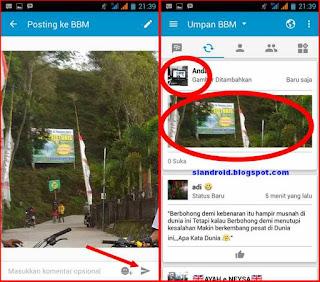 update gambar BBM tanpa ganti DP